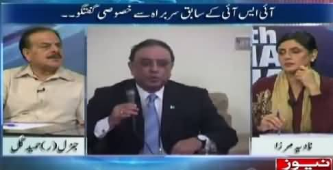 10PM With Nadia Mirza (General (R) Hamid Gul Exclusive Interview) – 19th May 2015