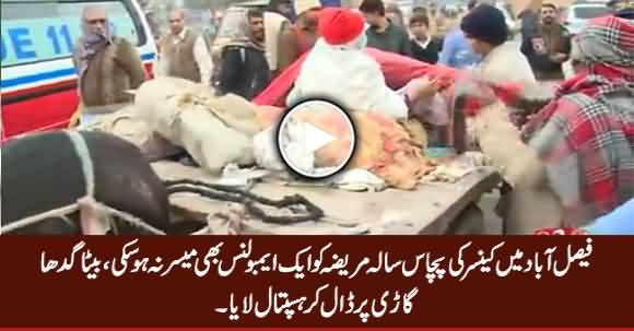 50 Years Old Cancer Patient Reaches Hospital on Donkey Cart in Faisalabad