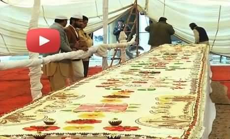 5000 Pound Cake Prepared to Celebrate Eid Milad un Nabi in Multan