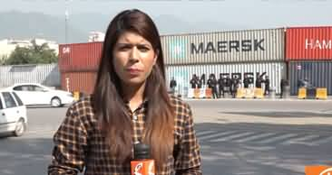 680 Containers Placed in Islamabad to Stop Azadi March - Latest Report
