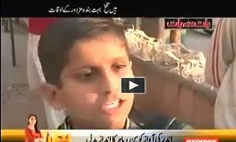 8 years old boy is compelled to sell pateesa and can not go to school due to poverty