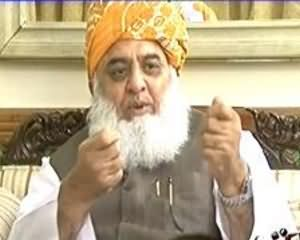 8pm with Fareeha (Exclusive Interview With Maulana Fazal-ur-Rehman) - 26th September 2013