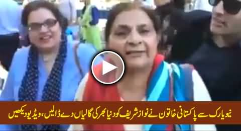 A Pakistani Woman From New York Using Very Harsh Words For Nawaz Sharif & Praising Imran Khan