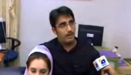 A Rare Video of Bilawal Zardari with Funny Mustaches on His Face
