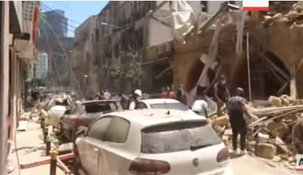 A View of Destruction on Beirut Streets After Massive Blast