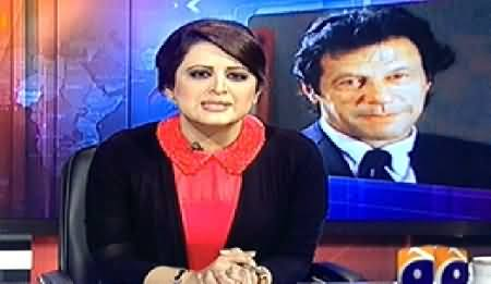 Aaj Geo News Ke Saath (Go Imran Go Slogans in KPK) - 14th November 2014