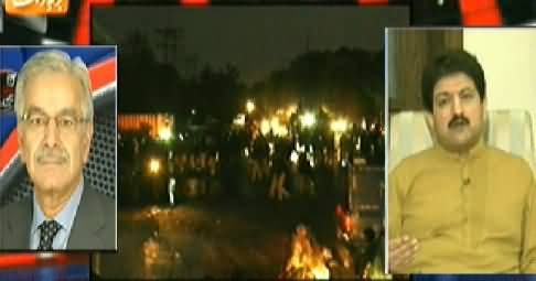 Aaj Geo News Ke Saath (Lahore Ki Sarkein Maidan e Jang) - 8th August 2014