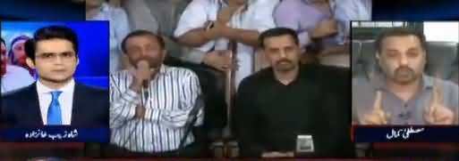 Aaj Shahzaib Khanzada Kay Sath (Mustafa Kamal Vs Farooq Sattar) – 13th November 2017