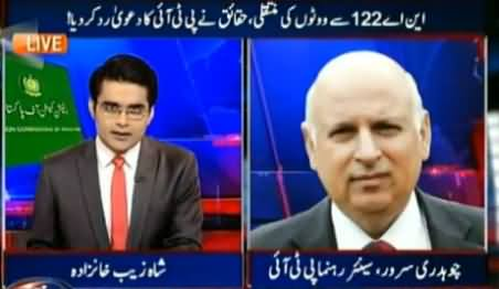Aaj Shahzaib Khanzada Kay Sath (NA-122: Issue of Vote Transfer) - 18th November 2015