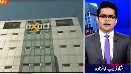 Aaj Shahzaib Khanzada Ke Saath (FIA Raids Axact Offices) – 19th May 2015