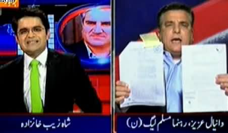 Aaj Shahzaib Khanzada Ke Saath (Imran Khan Vs Pervez Rasheed) - 15th January 2015