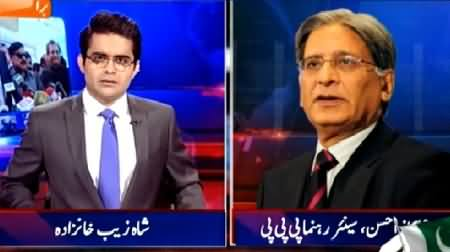Aaj Shahzaib Khanzada Ke Saath (Issue of PTI's Resignations) – 7th April 2015