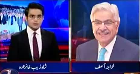 Aaj Shahzaib Khanzada Ke Saath (Khawaja Asif Allegations on PTI) - 19 October 2016