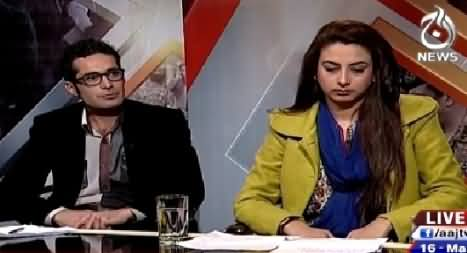 Aaj With Saadia Afzaal (Youhanabad Incident, A Reaction of Zarb e Azb?) – 16th March 2015