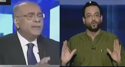 Aamir Liaqat Once Again Takes Class of Najam Sethi For Taking Side Of India