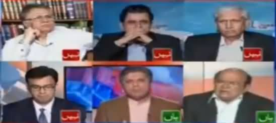 Aap Kia Asman Se Utre Hain - Verbal Fight Between Imtiaz Alam & Hafeezullah Niazi