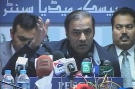 Abid Sher Ali Press Conference in Peshawar, Criticising PTI For Electricity Theft in KPK