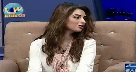 Actress Iman Ali Sharing Her Views About Imran Khan