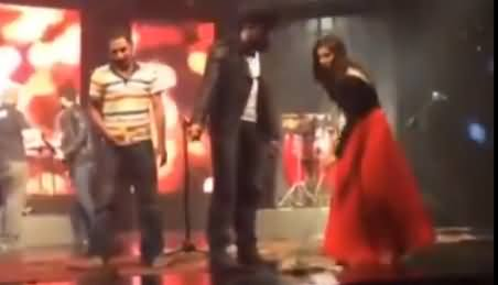 Actress Mahira Khan Sweeping Floor on the Set of Her Upcoming Movie