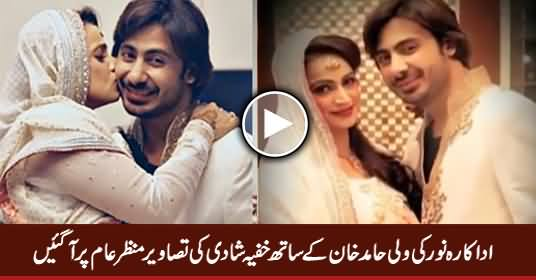 Actress Noors Wedding Pictures With Her New Husband Wali Hamid Khan