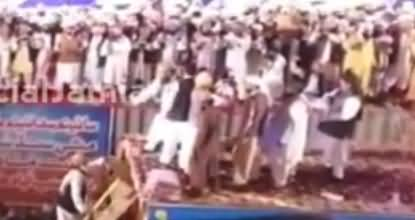 Aerial View of Maulana Fazl Ur Rehman's Welcome in Islam Zindabad Conference Hyderabad