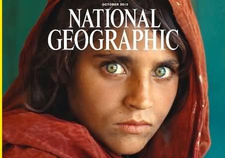 Afghan Girl Sharbat Gula Was Declared Mona Lisa Due To Her Beautiful Green Eyes