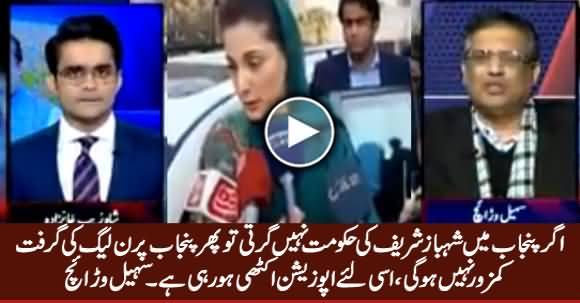 Agar Shahbaz Sharif Ki Govt Nahi Girti Tu PMLN Ki Grift Punjab Per Mazbot Rahe Gi - Sohail Warraich