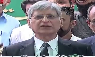 Aitzaz Ahsan Complete Media Talk Outside Supreme Court - 17th July 2017