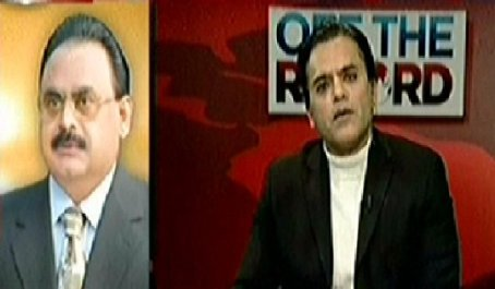 Altaf Hussain Exclusive Talk to Kashif Abbasi in Off the Record - 10th February 2015