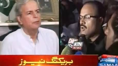 Amir Dogar Meets Javed Hashmi and Appreciates His Services For Pakistan