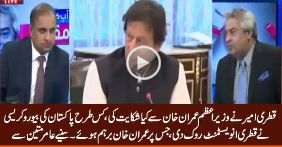Amir Mateen Reveals How Pakistani Bureaucracy Stopped Qatri Investment, Which Made Imran Khan Angry