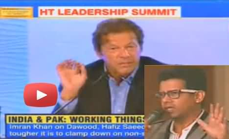 An indian Asks Imran Khan Why He didn't Share the Stage with Salman Rushdie 2 Years Ago