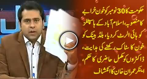 Anchor Imran Khan Exposed Govt's Plan of Severe Bloodshed in Islamabad on 30th November