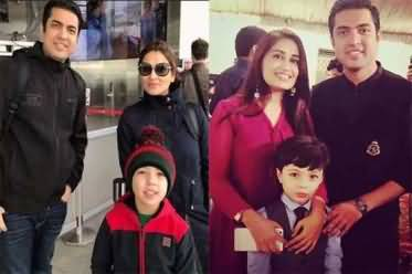 Anchor Iqrar-ul-Hassan Shares Pictures of His Both Wives And Son