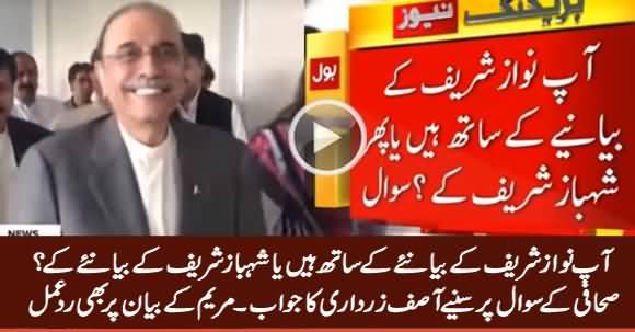 Are You With Nawaz Sharif's Narrative or Shahbaz Sharif's? Listen Asif Zardari's Reply