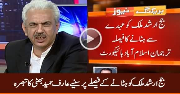 Arif Hameed Bhatti's Analysis on Removal of Judge Arshad Malik