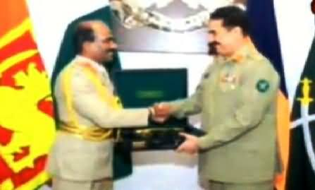 Army Chief General Raheel Sharif Visits Head Quarter of Sri Lankan Army in Colombo