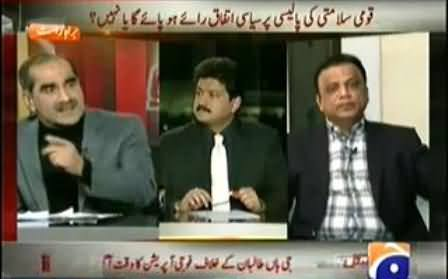 Article-6 Should Be Imposed to Altaf Hussain - Khawaja Saad Rafique Blasts Babar Ghauri in Live Program
