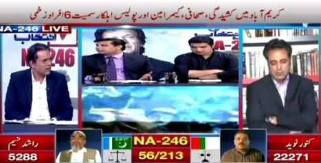 ARY News (NA-246: Karimabad Mein Kasheedagi, 6 Afraad Zakhmi) - 23rd April 2015