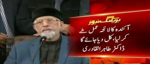 Asif Ali Zardari and Imran Khan will give speech from the same stage: Tahir-ul-Qadri