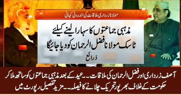 Asif Zardari And Fazal ur Rehman Agree To Launch Movement Against Govt
