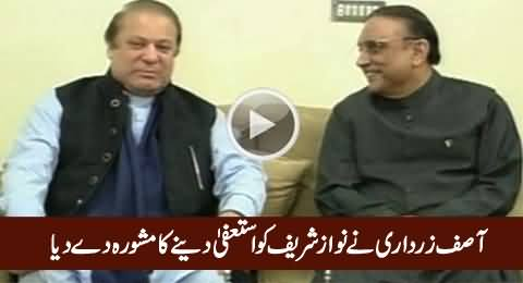 Asif Zardari Has Advised Nawaz Sharif To Resign From PMship - Dr. Shahid Masood