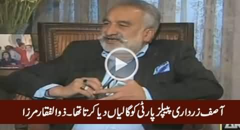 Asif Zardari Peoples Party Ko Bohat Gaaliyan Diya Karta Tha - Zulfiqar Mirza
