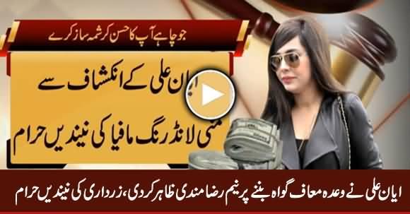 Ayyan Ali Wada Maaf Gawah Banne Per Neem Razamnad, Zardari Ki Neindein Haram