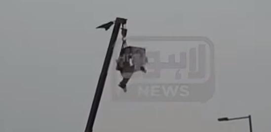 Azadi March: Man Climbs on Pole And Demands PM Imran Khan's Resignation