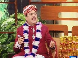 Azizi As Newly Wed Dulha Raja (Groom) in Hasb e Haal - 31st August 2013 - Must Watch