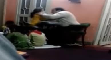 Bachi Per Tashadad Karne Waale Teacher Ki Video Viral Hone Per Teacher Giraftar