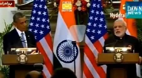 Barack Obama And Narendra Modi Joint Press Conference In India – 25th January 2015