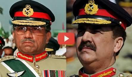 Pervez Musharraf and raheel sharif