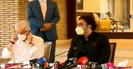 Bilawal Bhutto Zardari And Khawja Asif Joint Press Conference